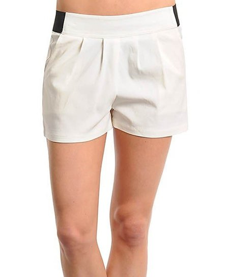 White Box Pleat Shorts