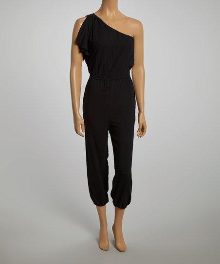 Black Asymmetrical Jumpsuit