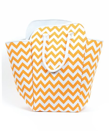 Orange Zigzag Jumbo Tote