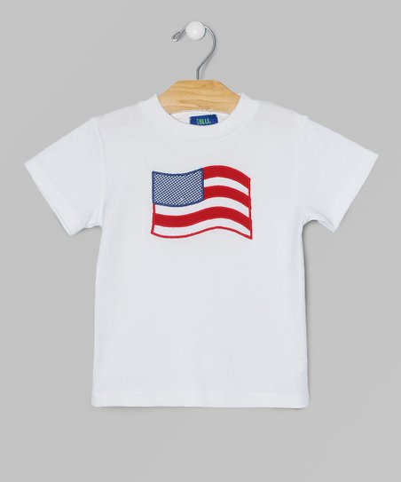 White & Red Americana Appliqué Tee - Toddler & Kids