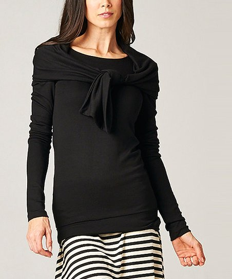 Black Long-Sleeve Tunic & Scarf