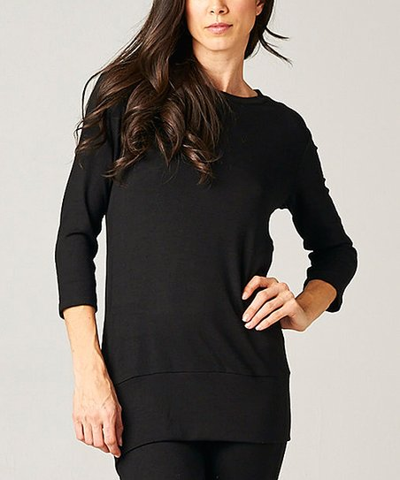 Black Open-Back Tunic