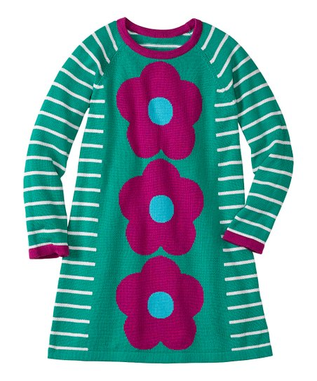 Rainforest Flower Power Sweater Dress - Infant, Toddler & Girls