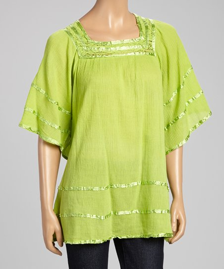 Green Square Neck Tunic