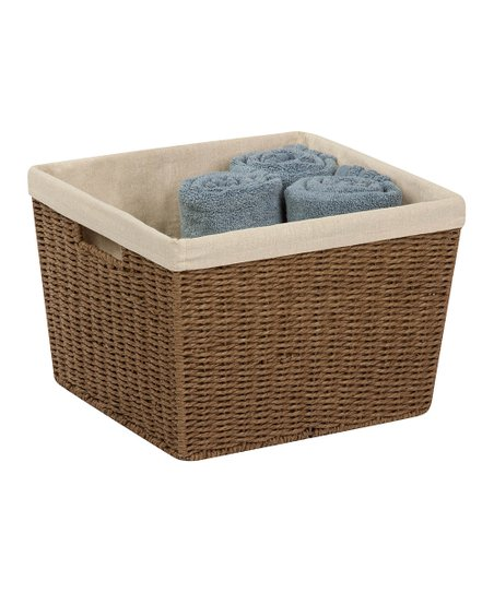 Brown Large Woven Rope Basket