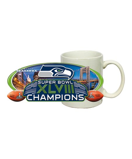 Seattle Seahawks White 'Champions' Coffee Mug