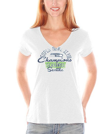 Seattle Seahawks 'Champions' V-Neck Tee - Women