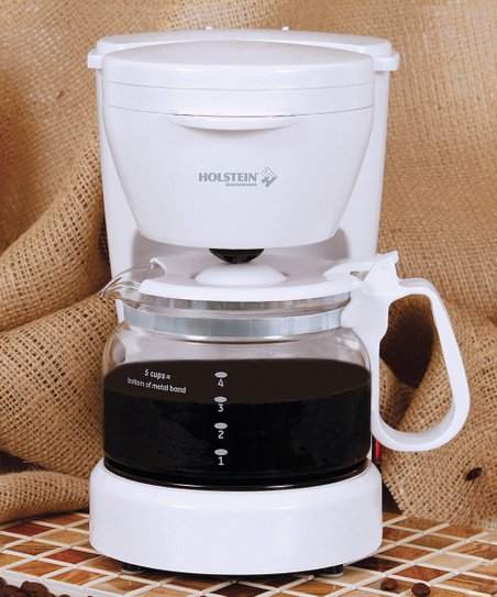 White 5-Cup Coffee Maker