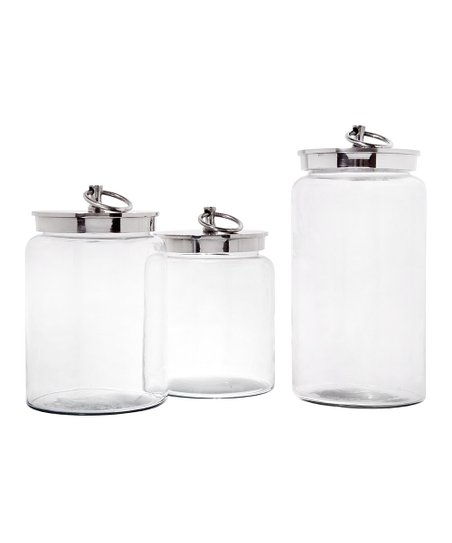 Silver Ring Canister Set