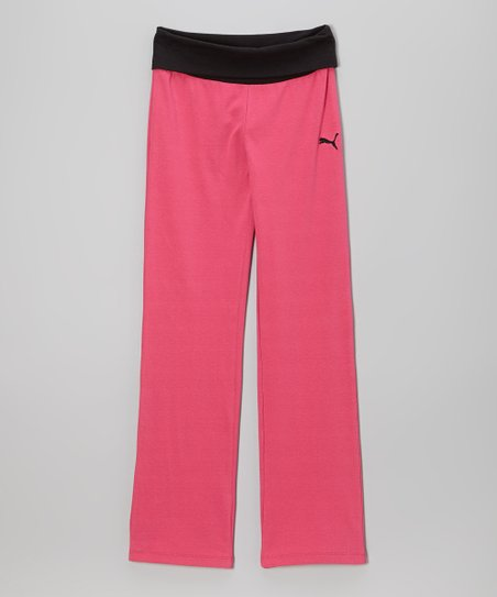 Hot Pink Glitter Warm-Up Pants - Toddler