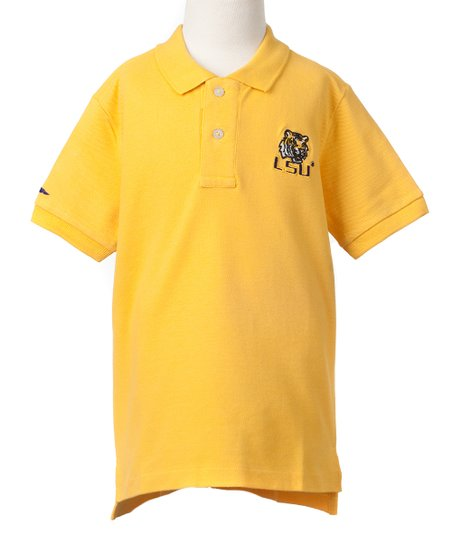 LSU Tigers Gold Mascot Polo - Boys