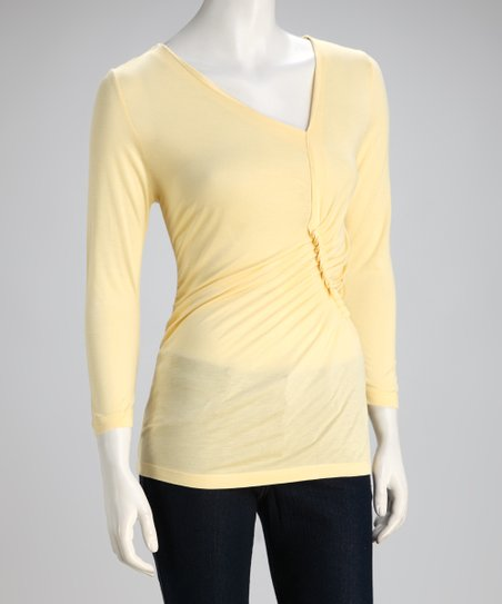 Butter Three-Quarter Sleeve Top