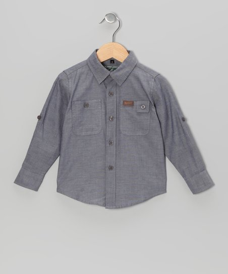 Slate Chambray Button-Up - Infant, Toddler & Boys