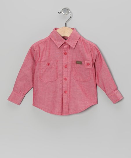 Red Chambray Button-Up - Infant, Toddler & Boys