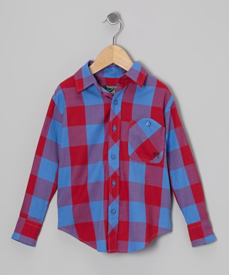 Red Signature Plaid Button-Up - Toddler & Boys