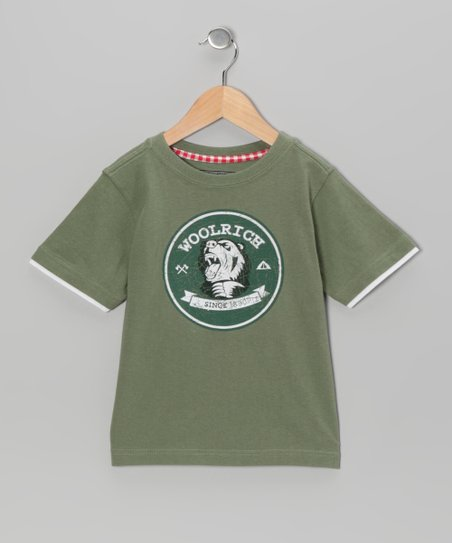 Green 'Woolrich' Tee - Toddler & Boys