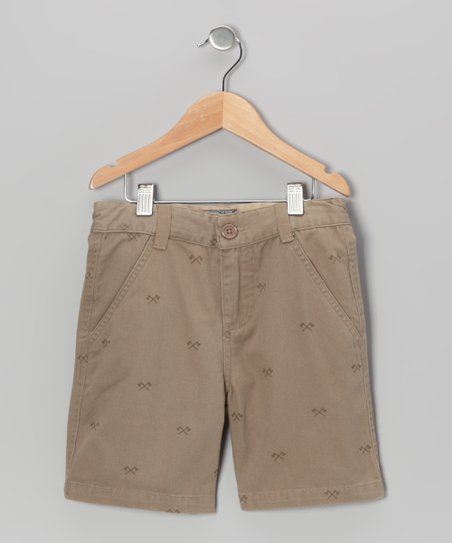 Tan Axe Shorts - Boys
