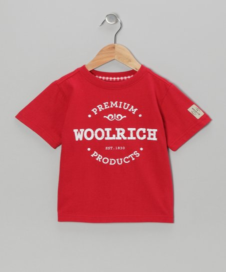 Red 'Woolrich' Tee - Boys