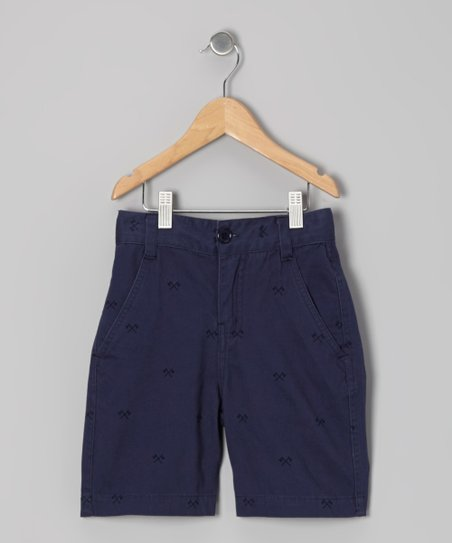 Navy Axe Shorts - Boys