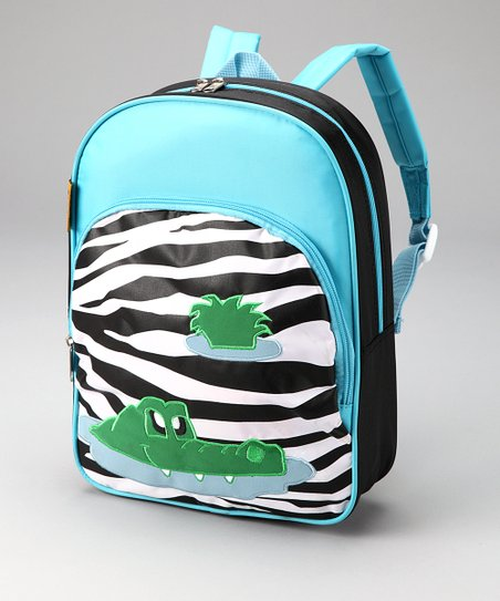 Black & White Zebra Crocodile Backpack