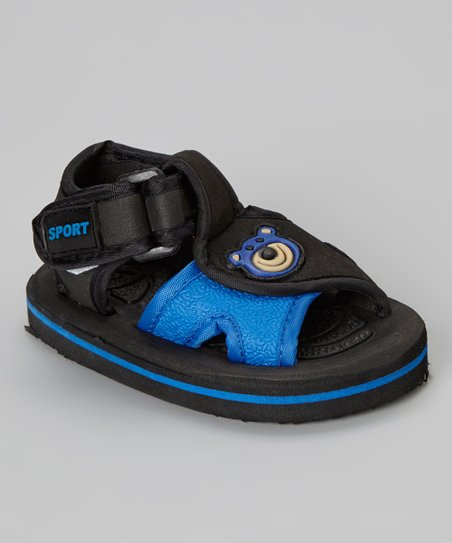 Black & Dark Blue Bear Sandal