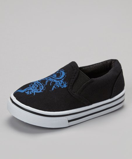 Black & Blue Dragon Slip-On Sneaker