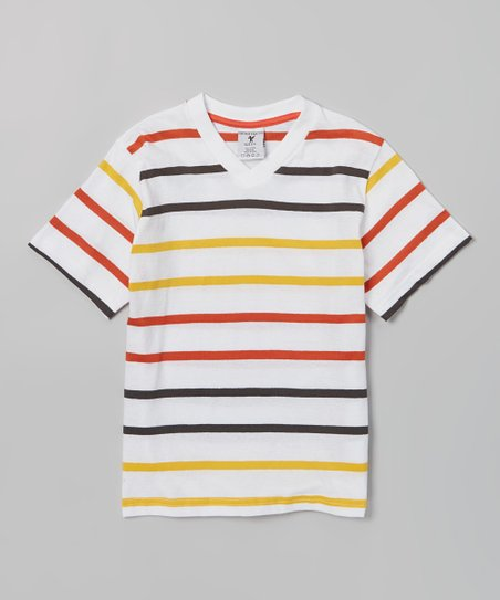 Lemon & Orange Stripe Tee - Boys