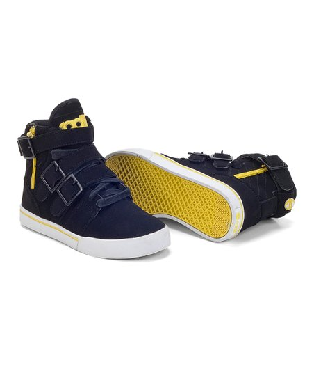 Black & Yellow Straight Jacket Hi-Top Sneaker