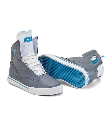 Gray & White Noble Hi-Top Sneaker