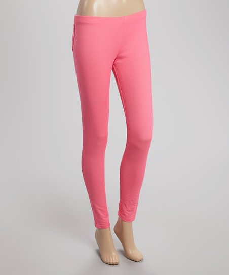 Bright Pink Pocket Jeggings - Women