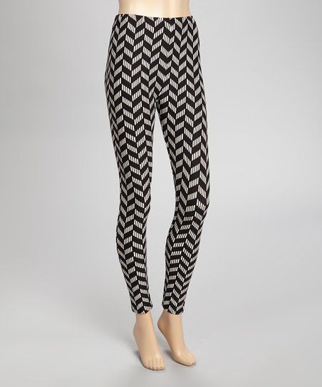 Black Chevron Unique Leggings