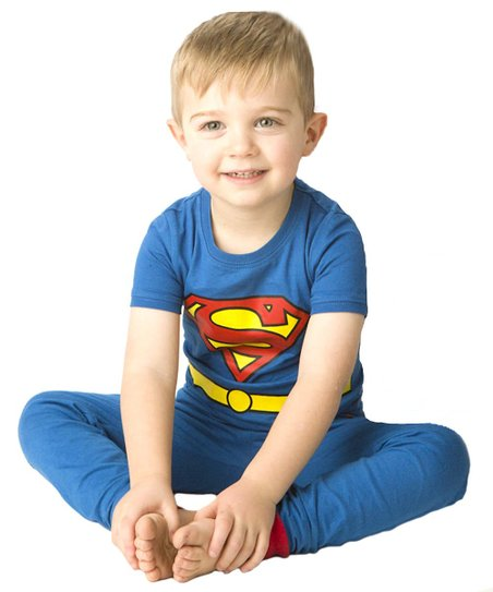 Blue & Red Superman Character Pajama Set - Infant & Toddler