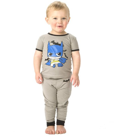 Gray & Blue Batman Pajama Set - Toddler