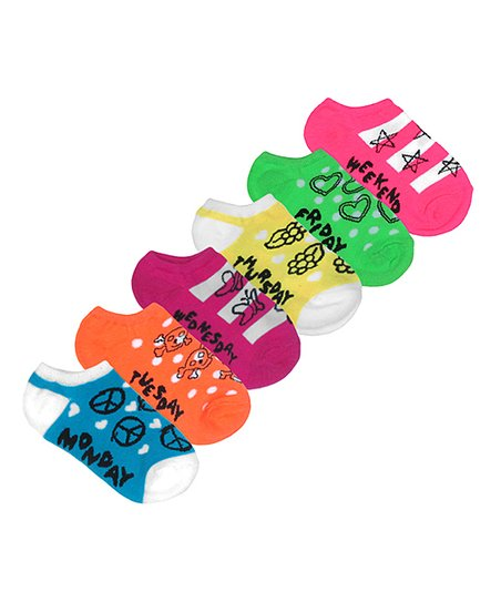 Rainbow Days of the Week Socks Set