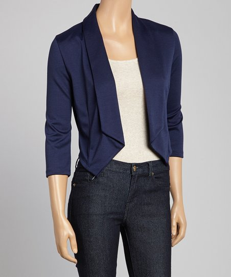 Navy Open Blazer