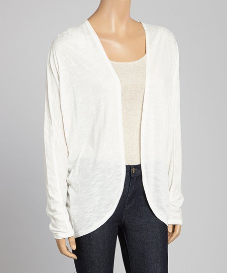 Cream Open Cardigan