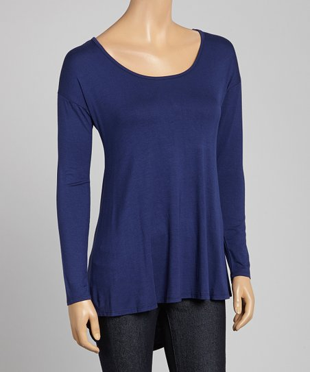 Navy Scoop Neck Tunic
