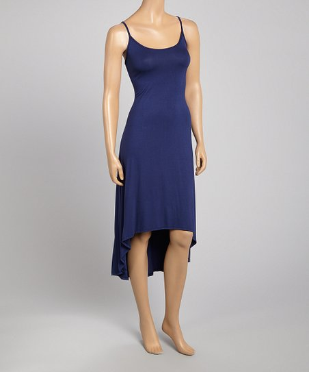 Royal Blue Hi-Low Sleeveless Dress