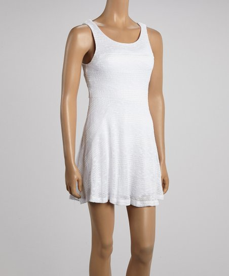 Ivory Crocheted Dress