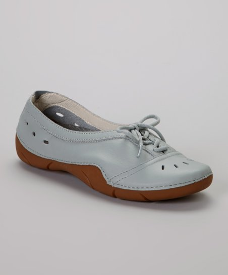Sea Blue Lark Leather Shoe - Women