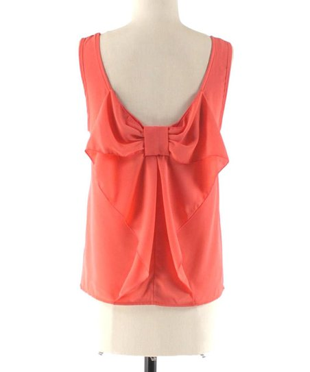 Coral Bow-Back Tank