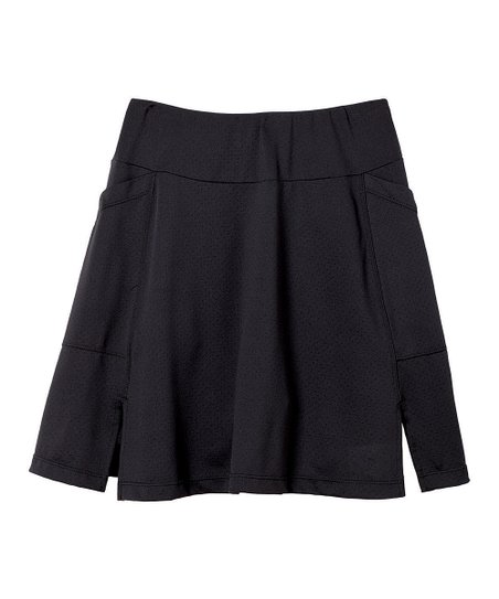 Black Flare Padded Skort - Plus