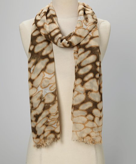 Brown & Natural Animal Scarf