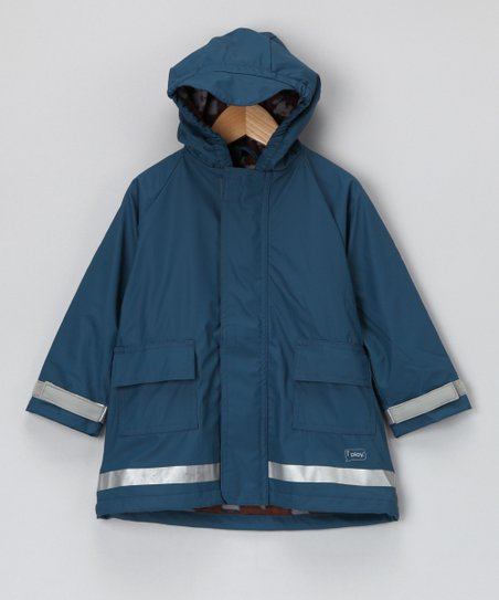 Navy Lined Raincoat - Infant & Toddler