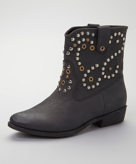 Black Ripley Studded Ankle Boot