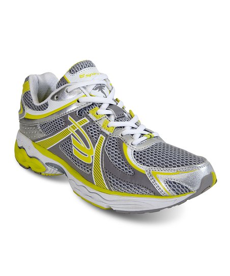 Gray & Yellow Scorpius Stability Running Shoe - Women