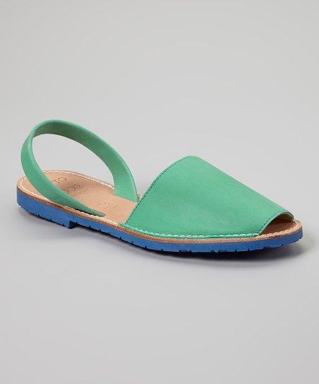 Green Leather Sandal - Women