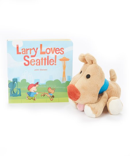 Larry Loves Seattle Hardcover & Plush Toy