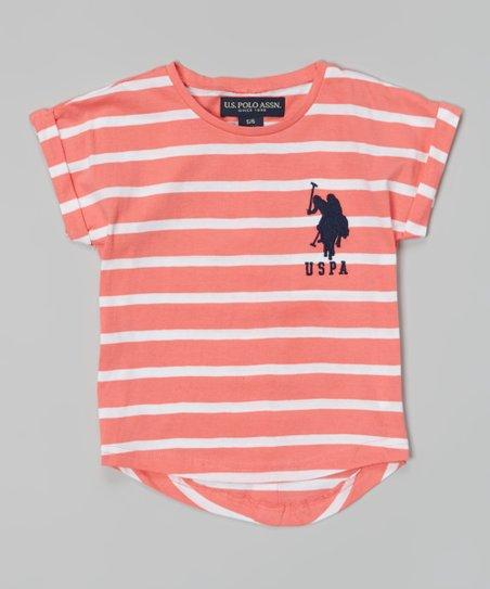 Pink Stripe Hi-Low Tee - Toddler & Girls