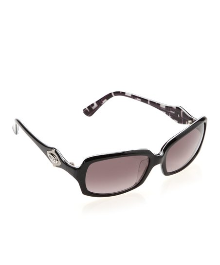 Black Thin Square Sunglasses